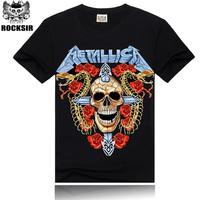 Free Shipping ROCKSIR heavy metal rock band Metallica t shirt men