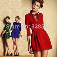 NEW Fashion Women O-neck Plus size Dress Summer Short Dress  Mini Dress Free Shipping