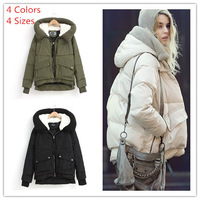 New 2014 winter women thicken outdoor wear duck down jacket parkas 4 colors 4 size warm winter coat free shipping