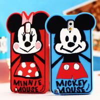 New Arrival, 3D Cute Daisy Danald,Mickey Design Soft Rubble Silicon Phone Case Back Cover for Note 2 7100, Note 3 9000