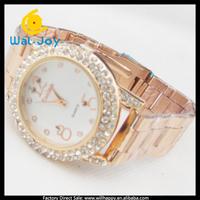 latest fashion personality diamonds metal women watch(WJ-1567)