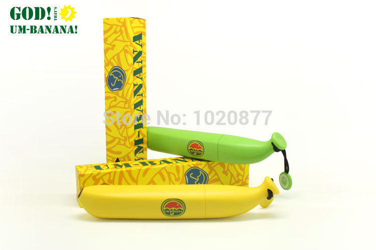 Banana Shape Sunny And Rainy Umbrella For Adult Or Children/Kids As Funny Gift Or Creative Design Craft(China (Mainland))