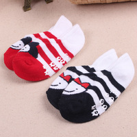 free shipping!high quality and lovely newborn baby cotton sock cartoon slippers invisible children ankle sock non slip rubber