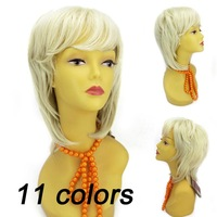 Fashion wigs short hair wigs front lace wigs/glueless full lace wigs with bangs lady hair Free Shipping E-245