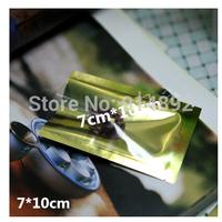 Wholesale 7*10cm  aluminum bag semi-clear foods translucent flat pocket/ food bags