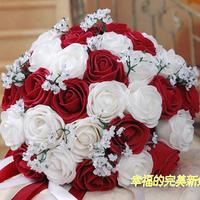 Free Shipping Wedding Bouquets Flower Bouquet Holder Handle Wedding Accessories Bridal Bouquets Bridesmaid Flower 26-28CM BQ303