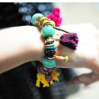 Korean Designer Fashion Bohemia Beads Beeaded Multi Strand Stretch Bracelet
