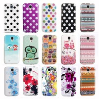 IMD TPU Silicon Phone Bags for Samsung GALAXY S4 Case S IV Cover Indian Style Polka Dots Owl Butterfly S Line Design Cases i9500