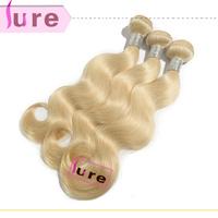 New Star bleach Blonde hair 613 color Brazilian Virgin Human Hair body wave  3pcs mixed lengths free shiiping