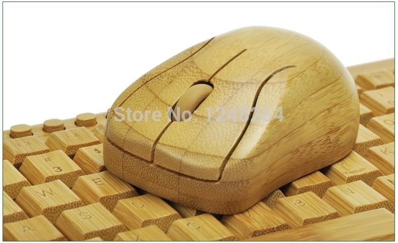 Eco-friendly wireless full bamboo key 109 key keyboard and mouse set kg201 mg94 bambinos mouse and keyboard(China (Mainland))