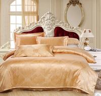 Bedding set / Bedclothes /Jacquard Cotton Satin bed set Noble Silk Bedding/ Bed Sheet duvet cover