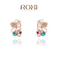 2014 Brinco Roxi Fashion New Arrival, Genuine Austrian Crystal,manual Mosaic Jewelry,women Trendy Earringschrismas /birthday Gif