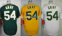 Oakland #54 Sonny Gray Men's Authentic Cool Base Alternate Green/Alternate Yellow/Home White Baseball Jersey