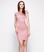 S-XXL Elegant Work Dress Women Lady Slim Casual Dress Office Career Dress Party dress 2014 New Fashion Summer Autumn C9ML116