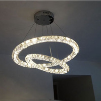 Hot Modern LED Crystal pendant lamp with 3-sections Remote free shipping +many size 600+400MM