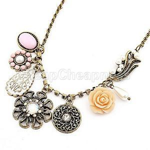 2014New Party Charm Fashion Jewelry Women Retro Irregular Rhinestone Necklaces Women Crystal Flower Drop Necklaces for