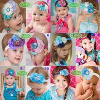 Beautiful frozen headband Snow Queen Anna Princess hairband baby girls headbands head hair bands children Christmas gift SP16