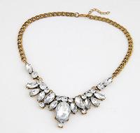 Sparkling Rhinestone Choker Necklace Elegent Party Jewelry Statement Necklace cxt9229