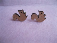 Forest Friends Squirrel stud earrings best gifts for women kids girl teen