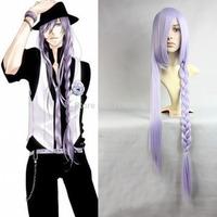 Gackpoid Kamui Gakupo Vocaloid 2 Gumi Light Purple Braid Long Party Cosplay Wig Kanekalon Fiber no lace Hair full Wig