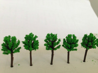 Free Shipping 200pcs 12mm  quite mini scale model green color trees for model train railway layout