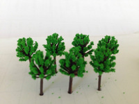 Free Shipping 500pcs 18mm  quite mini scale model green color trees for model train railway layout
