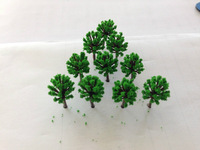Free Shipping 1000pcs 18mm  quite mini scale model green color trees for model train railway layout