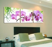 3 Panel modern wall art home decoration frameless oil painting canvas prints pictures P184 pink orchid flower paintings bedroom