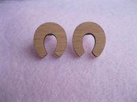 brand new design stud U shape earrings cut by laser