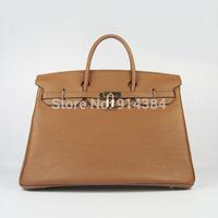 High-quality (1:1) 40CM 100% Genuine leather (H-handbags)  Women's handbags purse Tote Gold  hardware