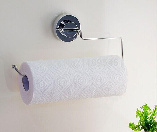 En acier inoxydable ventouse porte serviettes porte papier for Porte serviettes papier