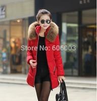New 2014 big yards thick lamb's jacket winter jacket  women's in long down jacket large size winter jackets women 3xl 4xl