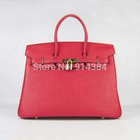 High-quality (1:1) 40CM 100% Genuine leather (H-handbags)  Women's handbags purse 100% Genuine leather Tote Silver  hardware