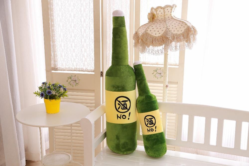 55cm Bottle Plush Toys Stuffed Beer Bottle Doll Boyfriend Birthday Gift(China (Mainland))