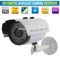 Free Shipping Video Security CCTV IR Night vision Bullet Camera HD 1080TVL 1/3 CMOS Sensor + IR-CUT + Waterproof