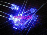 1000pcs, 3mm Blue 5000mcd Flat Top LED Lamp Bright Leds Free Shipping