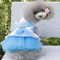 dreambows Lovely Dog bow Polka Dot tutu skirt #dd1001 Pet Wedding Dresses Free shipping!