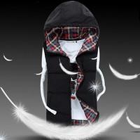 CD-46 S- XXXL plus size new 2014 Lover women and men autumn winter vest cotton vest 4 color winter coat women waistcoat fashion
