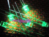 1000pcs, 3mm Green 5000mcd Flat Top LED Lamp Bright Leds Free Shipping