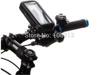 50pcs/lot Waterproof Zip Case Bag Bike Bicycle Handlebar  Mount Holder For iphone 5 5s