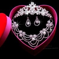 Necklace Earrings Tiara Wedding Jewelry Set 2014