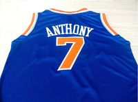#7 Carmelo Anthony Brand New Jerseys Blue/Orange/White Basketball Jersey
