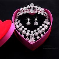 2014 Bridal Wedding Party Jewelry Luxury Gift Jewelry Set With Tiara