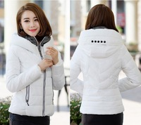 2014 slim down cotton-padded jacket women's outerwear wadded jacket plus size short small winter jacket spring and autumn coats