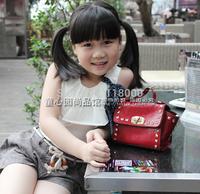 new arrivals girls mini 5 colors vintage rivet handbag women mini fashion totes kids fashion casual bag