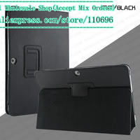 "Free shipping 1pcs/lot NEW Folid Stand PU Leather Case Cover 4 Case FOR Samsung GALAXY Tab 2 P5100 10.1"" Tablet"