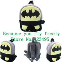 2014 3D batman cartoon stereo backpack,children bag.boy and girl's gift,cartoons fabric plush outdoor backpack