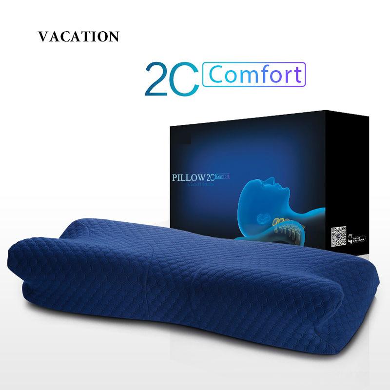 Pillow /Neck pillow/Memory foam pillow / Slow Rebound Memory Foam Throw Pillows / Treatment of cervical vertebra/Massage/-MQ2C(China (Mainland))