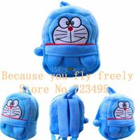 2014 3D doraemon cartoon stereo backpack,children bag.boy and girl's gift,cartoons fabric plush outdoor backpack