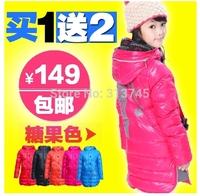 2014 brand  Bright surface,waterproof white duck Thickening  children outerwear The girls down jacket winter jacket coat girls